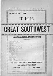 February 1894 issue of The Great Southwest, a monthly publication on horticulture