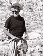 Harbison collecting insects during a research trip to Isla Santa Catalina in the Gulf of California, date unknown.