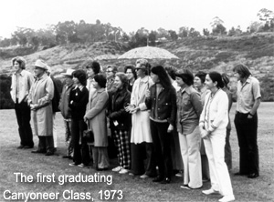 The first graduation Canyoneer class , 1973