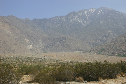 San Jacinto Peak from north base at mouth of Snow Creek