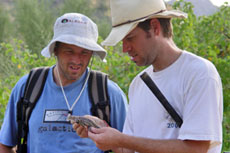 Bradford Hollingsworth and Dustin Wood during the 2003 Binational Expedition