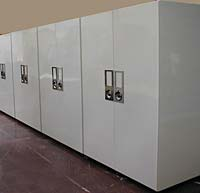 Steel cabinets for storing specimens