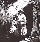 Harbison on a research trip to Cantiles Canyon, 1936.