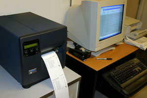 Thermal transfer printer and database link