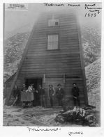 Miners from the Bailey and Strick Families, at Redman Mine Hoist, Banner CA 1898