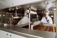Chocolate laboratory. Most large-scale chocolate manufacturers run their factories like science laboratories. Precision instruments track temperature and moisture levels and regulate the timing of automated processes within the factory. Credit: Lindt & Sprüngli, Switzerland