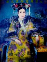The Oil Painting of the Chinese Empress Dowager Cixi (1835-1908)  by Catherine Karl in late 1890s.